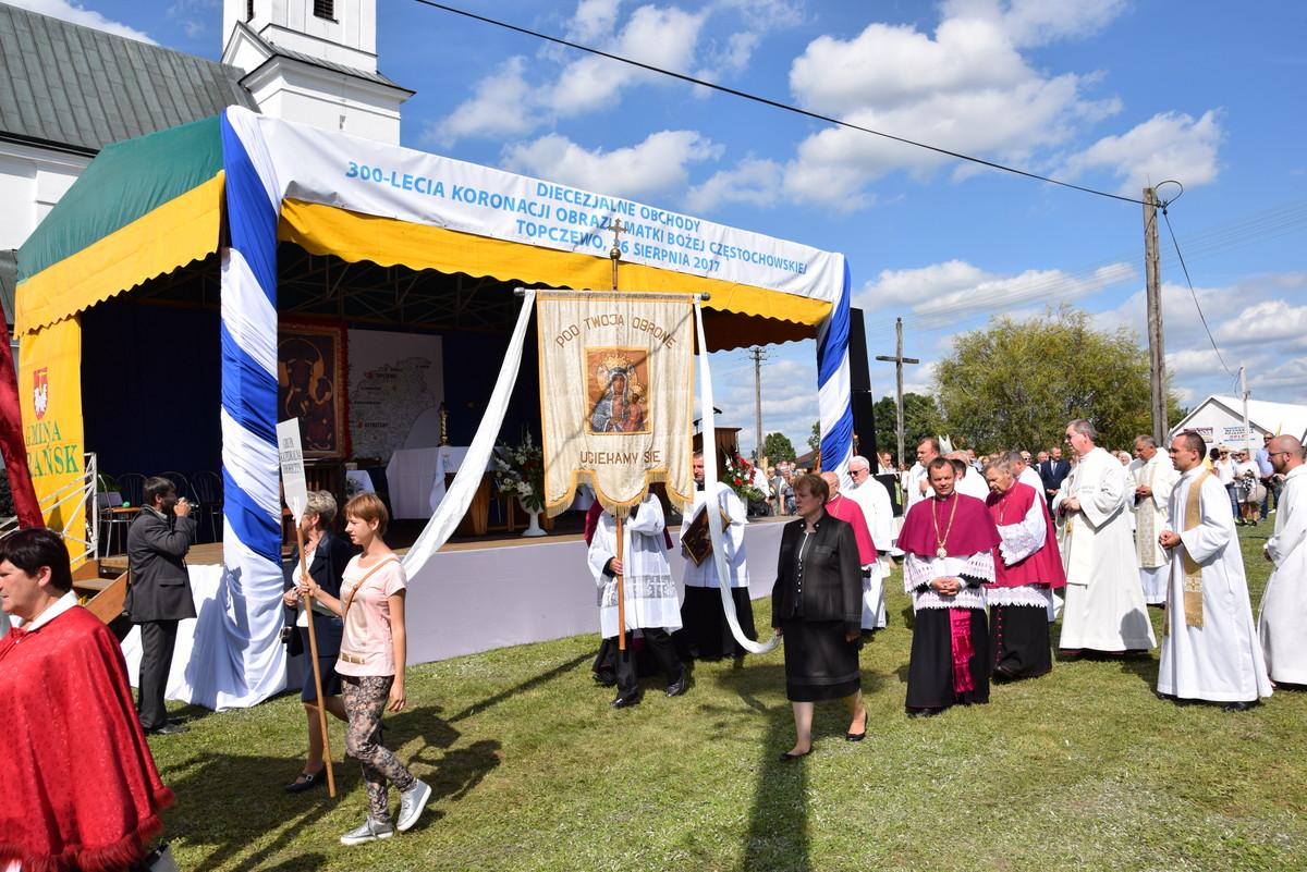Diecezjalne uroczystości 300lecia koronacji Obrazu MB Częstochowskiej Topczewo 26.08.2017r (100)