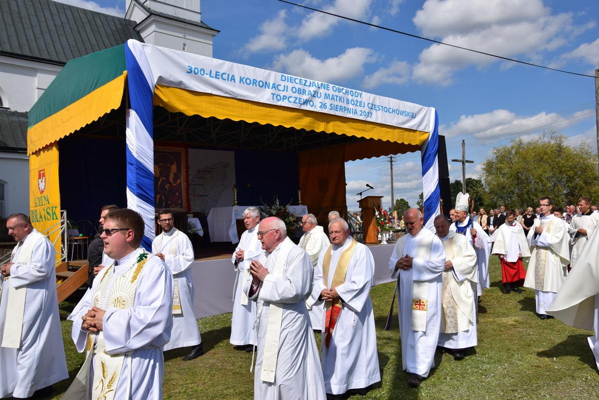 Diecezjalne uroczystości 300lecia koronacji Obrazu MB Częstochowskiej Topczewo 26.08.2017r (103)