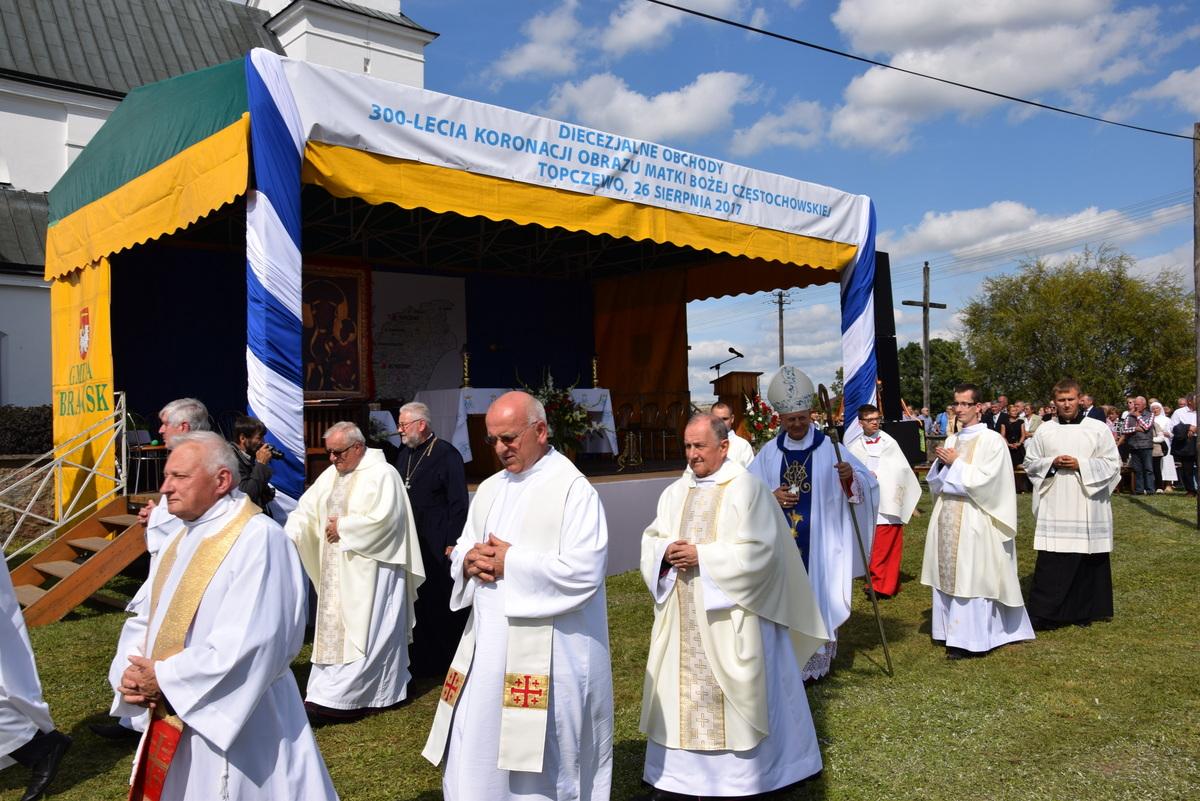 Diecezjalne uroczystości 300lecia koronacji Obrazu MB Częstochowskiej Topczewo 26.08.2017r (104)