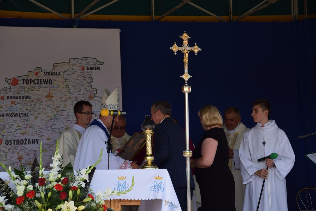 Diecezjalne uroczystości 300lecia koronacji Obrazu MB Częstochowskiej Topczewo 26.08.2017r (80)