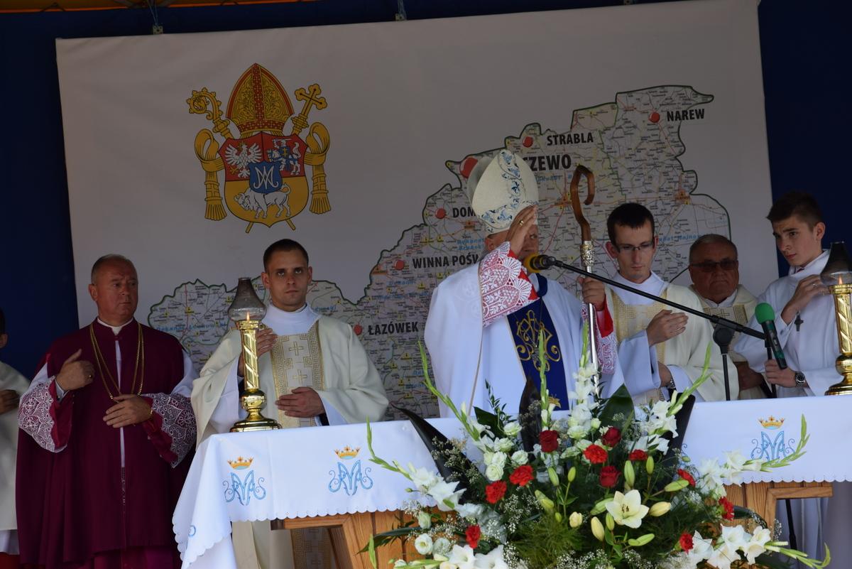 Diecezjalne uroczystości 300lecia koronacji Obrazu MB Częstochowskiej Topczewo 26.08.2017r (96)